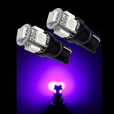 6 pieces 194/161/168 T10 5-SMD/LED INSTRUMENT PANEL SIGNAL POSTION BULBS Purple