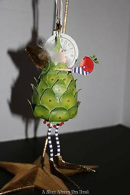 Patience Brewster Krinkles Artichoke with Cranberry Ornament New