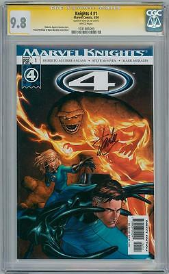 Marvel Knights 4 1 Cgc 9.8 Signature Series Signed Stan Lee Fantastic Four Movie