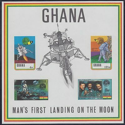 Ghana 1970 ** Bl.39 I Weltraum Space Espace Armstrong Collins Aldrin Apollo 11