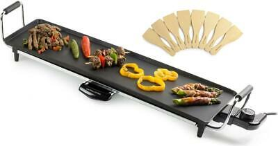 Andrew James Electric XL Teppanyaki Grill Table Top Griddle Plate & 8 Spatulas