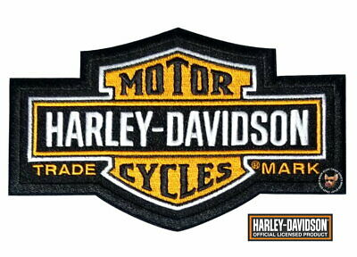 Harley Davidson Classic Long Bar & Shield Patch **Large ** Old School **