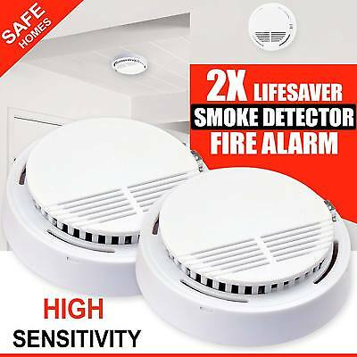 2 x Smoke Detectors Fire Alarm Ionisation Batteries Included UK Seller Brand NEW
