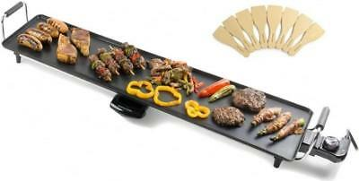 Andrew James XXL Electric Teppanyaki Grill Table Top Contact Griddle 88 x 23cm