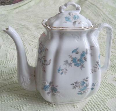 Embossed Blue Floral Coffee Pot or Teapot  Made in Austria