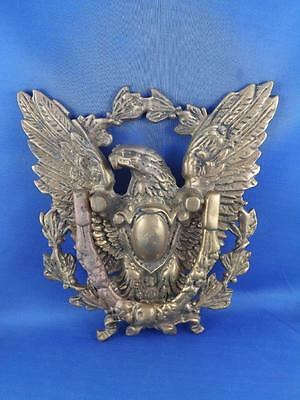 American Eagle Door Knocker Brass Heavy Metal Vintage Antique Decorative