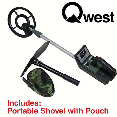 "36"" Metal Detector Kit with Shovel Scoop Treasure Hunter Waterproof Coil"