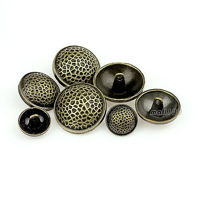 12PCS Metal Antique Bronze Shank Buttons Vintage Leopard Carving 15 21 25mm