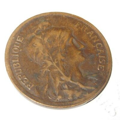 Vintage Antique French France Coin 10 Centimes 1916