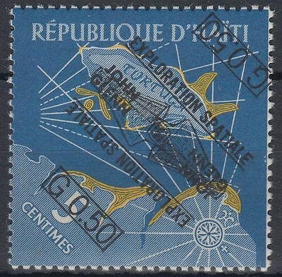 Haiti 1962 ** Mi.693 DD double ovpt., one inverted Weltraum Space Espace