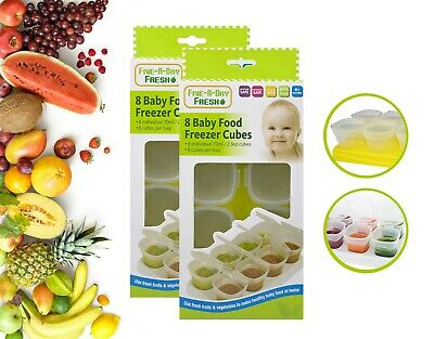 Food Freezing Cubes Set of 16 for Breast Milk & other Baby Foods First Steps