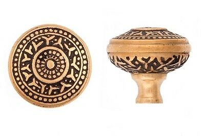 Cast Bronze Rice pattern cupboard cabinet knob 1 1/4 inches