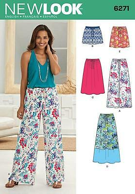 New Look Sewing Pattern Misses' Shorts Trousers Skirt Size 10 - 22 6271
