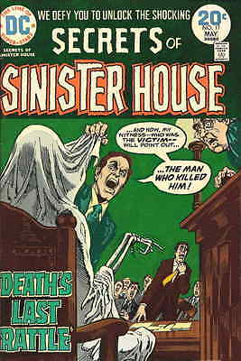 SECRETS OF SINISTER HOUSE #17 VG, Barry-a Early Chaykin 1pg strip, DC Comic 1974