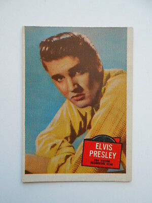 Elvis Hit Stars very rare ex condition card  from 1950s