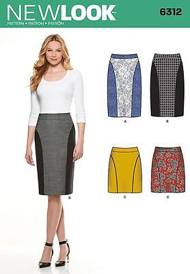 New Look Sewing Pattern Misses' Slim Skirt 2 Lengths  Size 8 - 20 6312