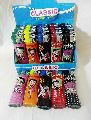 Betty Boop JET FLAME  Windproof Wind Proof Refillable Electronic Lighter