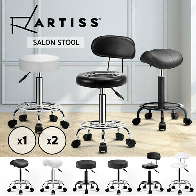Artiss Salon Stool Swivel Barber Hairdressing  SADDLE ROUND Chair Hydraulic Lift