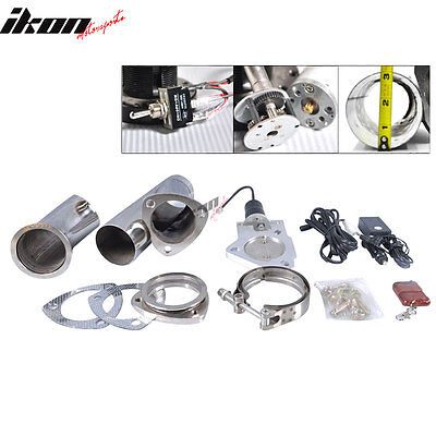 Ford 3 Inch Electric Exhaust Dump Flange With Wireless Remotes Y-Pipe