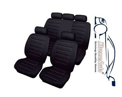 Bloomsbury Black Leather Look 8 PCE Car Seat Covers For Mazda 2, 3, 323, 6, 626