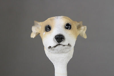 Whippet Tan White Interchangeable Head See Breeds  Bodies @ Ebay Store)
