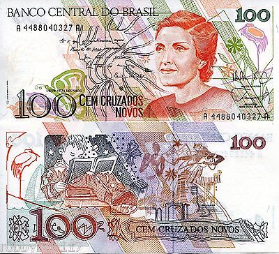 BRAZIL 100 Cruzados Banknote World Money Currency South America BILL p220a Note