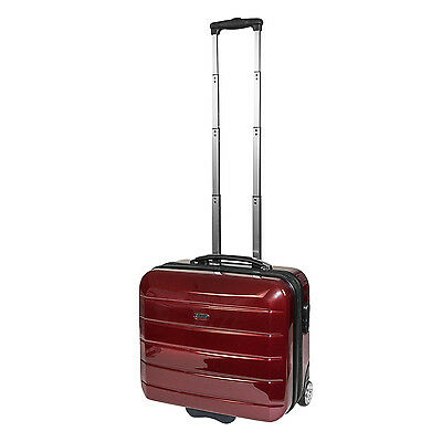 Pilotenkoffer Reisetrolley Trolley Bordcase Cabin Case 'London' - Carbon Rot