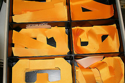 """Stahls 10"""" Gold Tackle Twill Pro & Var Numbers New"""