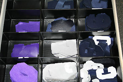 "Stahls 4"" Navy, Gray, Purple Background Tackle Twill Pro & Var Numbers New"