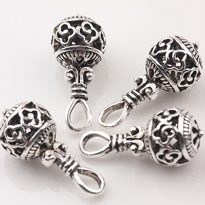 10/20Pcs Tibetan Silver Hollow Out Charm Jewelry Beads Pendant Findings 20*10mm