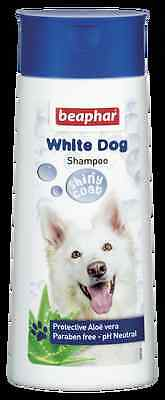 Beaphar White Dog Shampoo 250ml With Aloe Vera, sensitive skin