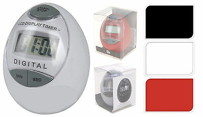 Digital Cooking Food Egg Kitchen Timer With LCD Display + Electronic Alarm