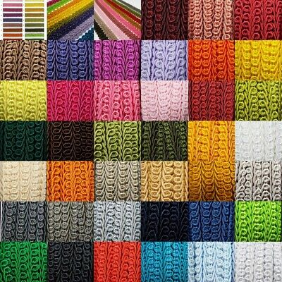 39 COLOUR Quality 15mm Double Scroll Gimp Braid Trim Edging Upholstery BUY 1 2 4