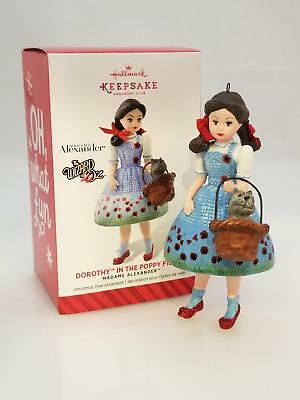 Hallmark Club Ornament 2014 Dorothy In The Poppy Fields Madame Alexander QXC5016