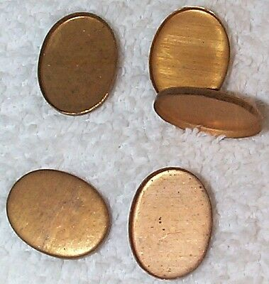 Vintage 1940's Oval 15Mm By 20Mm Flat Back Settings Mountings  20 Pcs