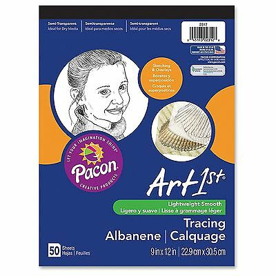 """""""Pacon Art1st Parchment Tracing Paper, 9 X 12, White, 50 Sheets"""""""