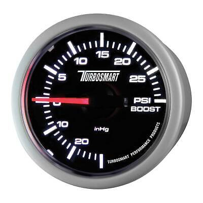 Turbosmart Turbo Boost Car Gauge - 52mm - 0-30 PSI - Black Dial Face/White