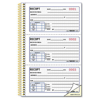 """Rediform Money Receipt Book, 2 3/4 X 5, Two-Part Carbonless, 225 Sets/book"""