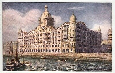 indian postcard india asia asian taj mahal hotel bombay