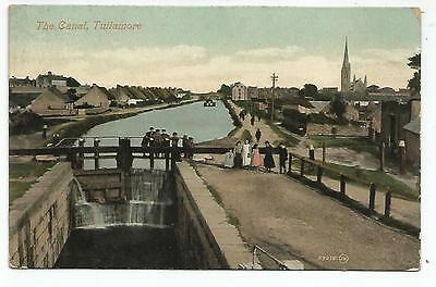 irish postcard ireland offaly the canal at  tullamore