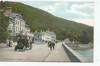 northern ireland postcard ulster irish down rostrevor old bus