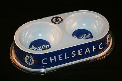CHELSEA FC Dual Cat Bowl NEW Official