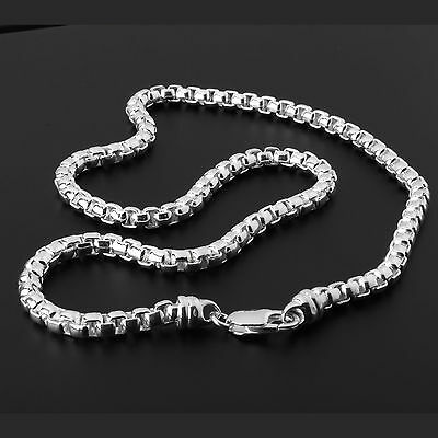 Heavy Box Belcher Chain Solid Sterling Silver Hallmarked Quality Mens Chain