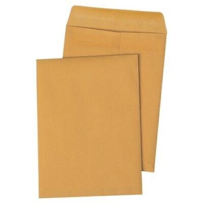 """Quality Park Redi-Seal Catalog Envelope, 9 1/2 X 12 1/2, Brown Kraft, 100/box"""