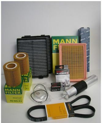 OEM Complete Tune Up Kit for 528i E39 BMW 98-2000 Bosch Spark Plugs Filters