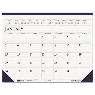 """""""House of Doolittle Two-Color Monthly Desk Pad Calendar, 18.5 X 13, 2016"""""""