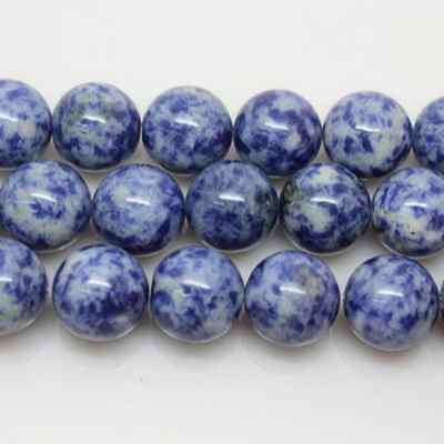 Lots Natural Blue Spot Round Gemstone Loose Spacer Beads Stone Findings 4-12mm