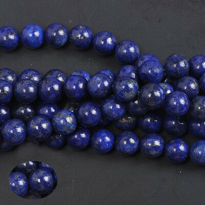 Natural  Lapis Lazuli Gemstone Round Spacer Loose Beads DIY 4/6/8/10/12MM