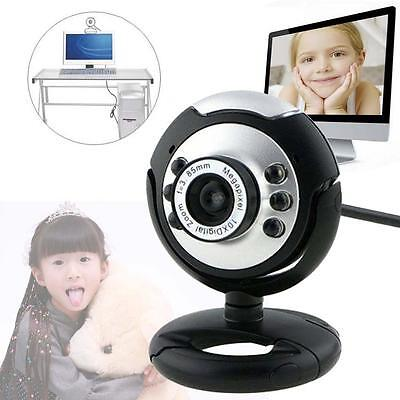 2016 12 Megapixel USB Webcam Camera With 6 LED Microphone Mic PC Laptop Skype BF