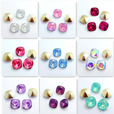 Wholesale 30PCS  Rounded Square Resin rhinestones beads 12mm DIY hot